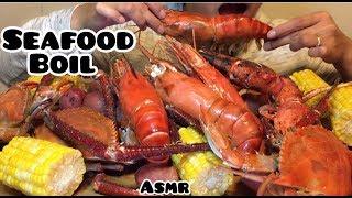 ASMR SEAFOOD BOIL | Eating Sounds | HOPE ASMR