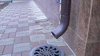 Отвод воды от водостока своими руками(Важное примечание, так нельзя делать ЕСЛИ!!!: у Вас большая влажность участка, а так же нет естественного..., 2015-10-25T09:30:42.000Z)