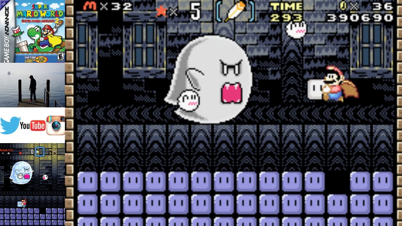 How To Get To Big Boo In Super Mario World Super Mario Advance 2