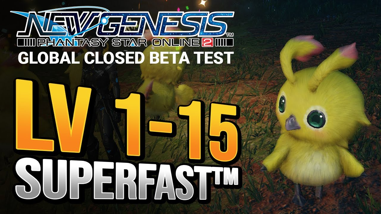 Download Get to Level 15 FAST in the PSO2 NGS Closed Beta! | New Genesis CBT Leveling Guide