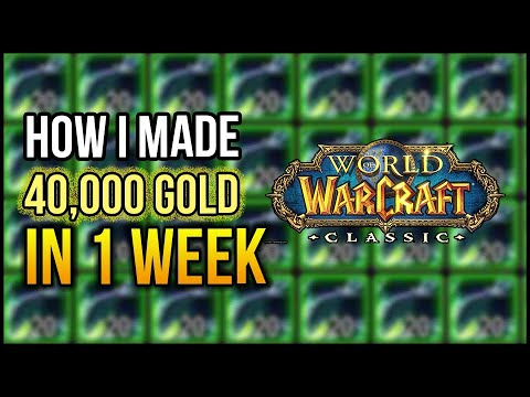 How I Made 40,000 Gold In One Week - Classic WoW