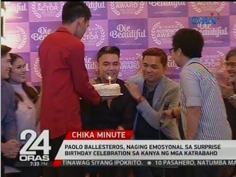 Paolo Ballesteros, naging emosyonal sa surprise birthday celebration sa kanya ng mga katrabaho