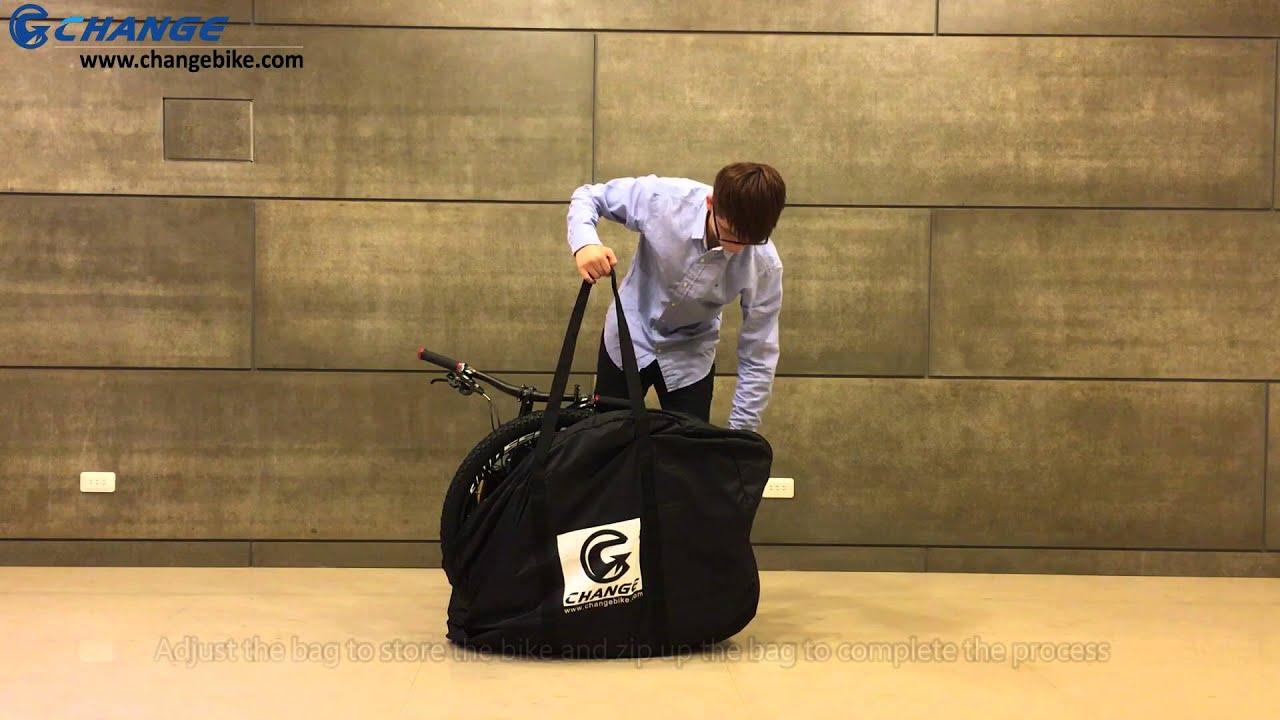 46ba9912ee  Changebike Mountain folding bike - Demonstration for mountain bike carry  bag
