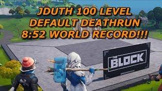 8:52 - JDUTH 100 LEVEL DEATHRUN - (WORLD RECORD)