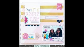 Weekly sketch inspiration - Hip Kit Club - January 2018 kits
