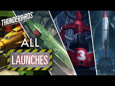 Thunderbirds Are Go | All Launches Thunderbird 1-4
