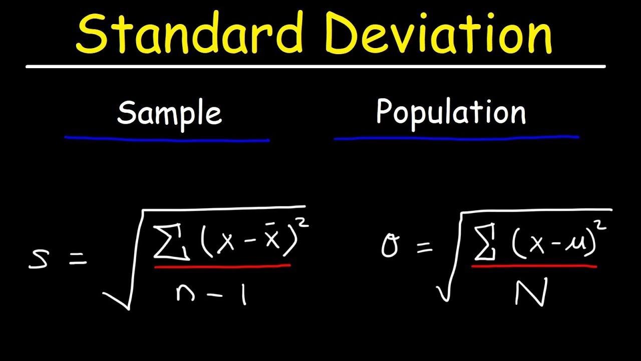 Standard Deviation Formula, Statistics, Variance, Sample and ...
