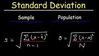 Standard Deviation Formula, Statistics, Variance, Saṁple and Population Mean