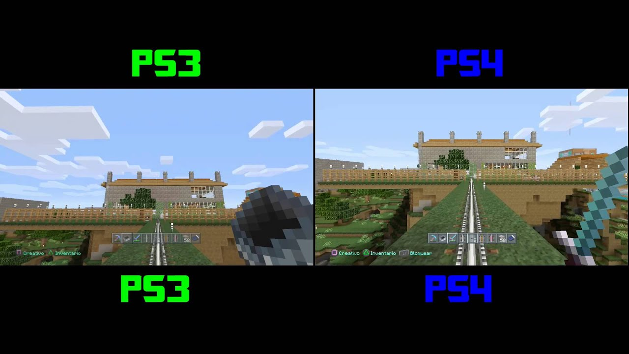 Minecraft Ps3 Vs Ps4 Comparacion De Graficos Youtube