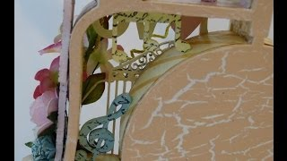 Altered Wood Bicycle Layers Shadow Box Part-5