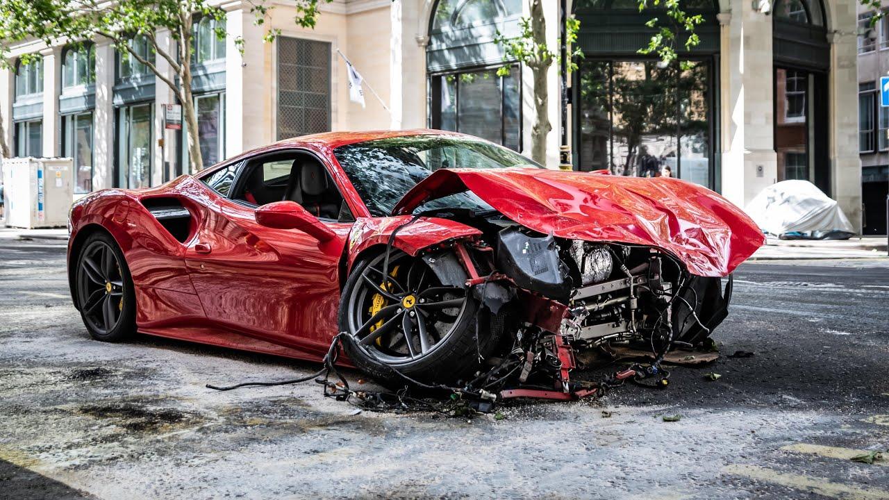 Rapper Swarmz Crashed Ferrari 488 In London Youtube