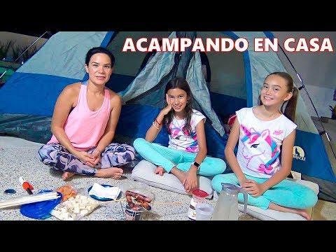 ACAMPANDO EN EL JARDIN  TV ANA EMILIA