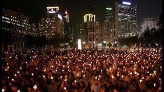 VOA连线(申华):香港在维多利亚公园举行纪念六四三十周年烛光晚会
