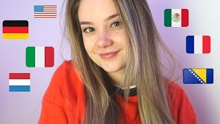 ASMR 7 LANGUAGES 7 TRIGGER WORDS! Italian, German, French, Spanish, Dutch, Bosnian Whispers