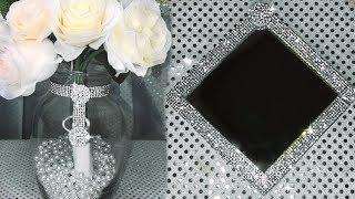 3 SPARKLING HOME DECOR IDEAS  #homedecordiy #dollartreehomedecor #glamhomedecor #blingismything