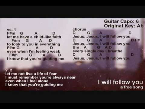 I will follow you || lyrics & chord charts - YouTube