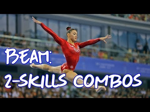 Gymnastics - 6 Amazing 2-Skills Combinations on Beam