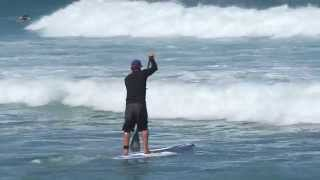 SUP Surf Instruction - How to Paddle Through Breaking Waves