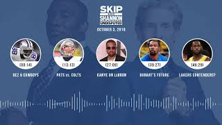 UNDISPUTED Audio Podcast (10.03.18) with Skip Bayless, Shannon Sharpe & Jenny Taft   UNDISPUTED