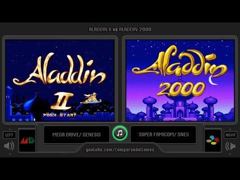 Aladdin 2 (Sega Genesis vs Snes) Side by Side Comparison (Aladdin II vs Aladdin 2000)