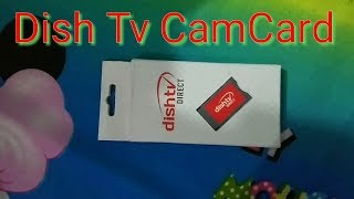 DishTv camcard Unboxing & Revew (2018)