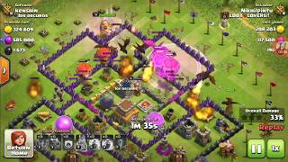 dragloon attack th8 vs half upgraded th8 clash of clans...