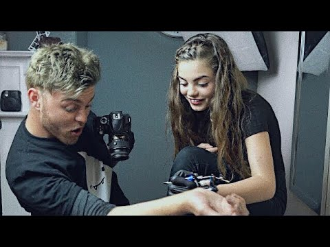 Thumbnail: letting a 12 year old tattoo me