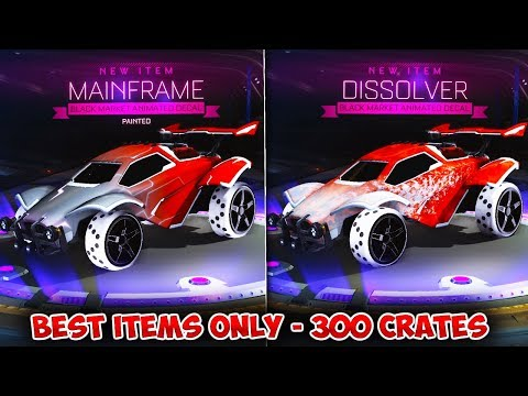 BEST ITEMS ONLY! - INSANE 300 PCC CRATE OPENING IN ROCKET LEAGUE! | Crate Opening Highlights thumbnail