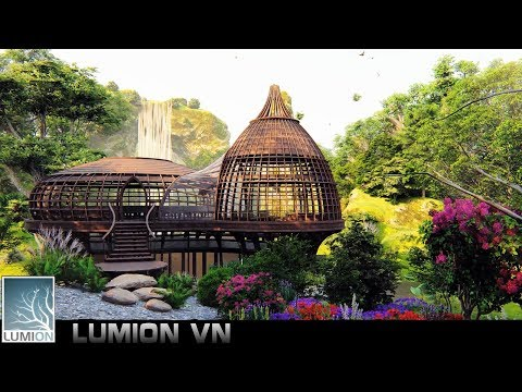 Temple in the forest | sketchup model and lumion 8