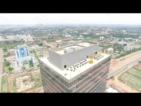 Drone the view of Abuja from then Center of the City - iAbuja
