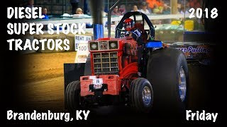 NTPA Grand National 2018: Diesel Super Stock Tractors | Brandenburg, KY | Let's Go Pulling