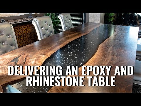 Delivering a Rhinestone and Epoxy Table + Shop Updates