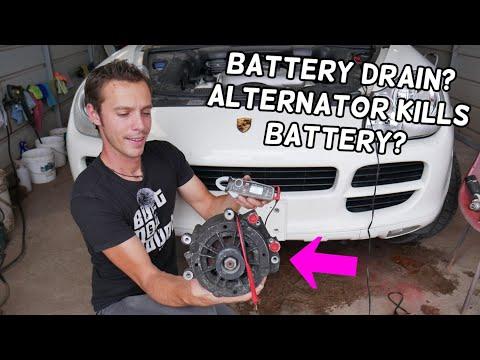 PORSCHE BATTERY DRAIN | CAN ALTERNATOR DRAIN YOUR BATTERY PORSCHE CAYENNE BOXSTER 911 PANAMERA MACAN