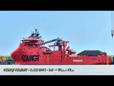 offshore supply vessel ESVAGT FARADAY OWGH2 IMO 9703473 Emden