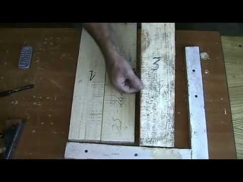 Примитивная склейка щита для резьбы из поддона
