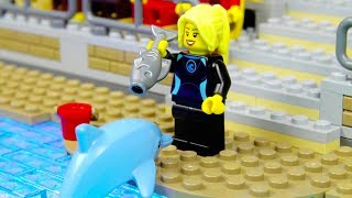 Lego Saving Dolphin in Pool Show ! Lego ToysReview