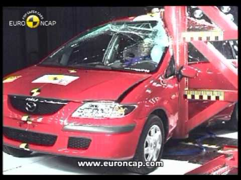 euro ncap mazda premacy 2001 crash test youtube. Black Bedroom Furniture Sets. Home Design Ideas