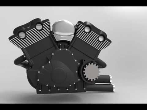 harley davidson v rod engine working solidworks 2011 youtube. Black Bedroom Furniture Sets. Home Design Ideas