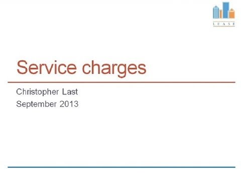 Service charges webinar