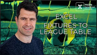 How to Collate Sports Fixtures Results into a League Table in Excel (2/6)