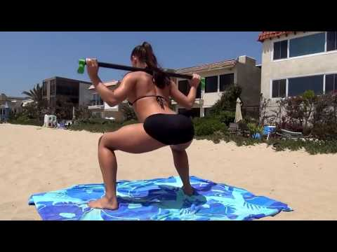 Big Booty Girl Butt Fitness  Best of Michelle Jacot at the Beach