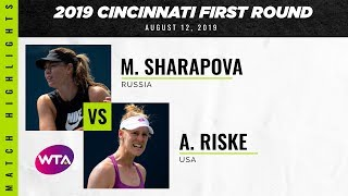Maria Sharapova vs. Alison Riske  | 2019 Western & Southern Open First Round | WTA Highlights