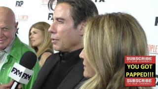 John Travolta and Kelly Preston arriving to the For Your Consideration Event For FX's The People v