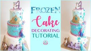 FROZEN CAKE DECORATING TUTORIAL | Abbyliciousz The Cake Boutique