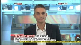Tim Davie BBC DG walks out of SKY NEWS live interview.