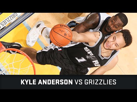 Kyle Anderson Highlights: 13 PTS, 7 AST, 4 STL, 1 BLK vs Grizzlies (28.03.2016)