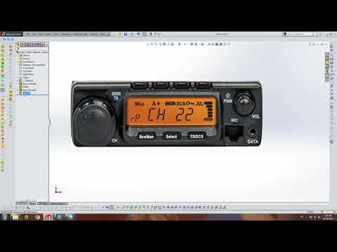 Toy Radio Cell - SolidWorks Tutorial (Part 1)