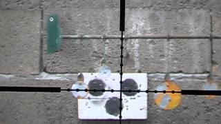 Cometa LYNX V10 .22 air rifle shooting steel target at 30m part2