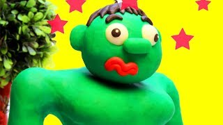 Hulk cartoon Stop Motion funny video for children