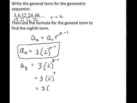 how to work out what a geometric sequennce converges to